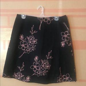 Tops - Black cotton skirt